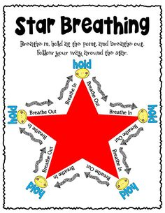 Star Breathing- - -one of the coping skills in the Hot To Calm Behavior Reflection Pack
