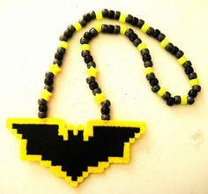 batman kandi necklace. I need beads, string and pearler beads >_