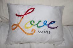 Gay Pride Pillow Gay Wedding Gift Lesbian by BrendaDeesigns