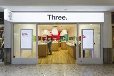 Three Mobile stores by Urban Salon, UK. Clean, bright, easy
