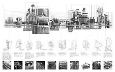 Architecture Portfolio Discover Presidents Medals: Planned Ignorance: Developing new typologies of waste management infrastructure and their necessity in a future sustainable society Timeline Architecture, Infrastructure Architecture, Architecture Collage, Architecture Graphics, Architecture Portfolio, Architecture Drawings, House Architecture, Landscape Architecture, Architecture Diagrams