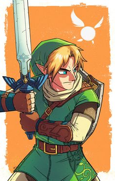 First time drawing Link! Put my own little spin on the design. The Legend Of Zelda, Legend Of Zelda Breath, Zelda Twilight Princess, Link Fan Art, Link Cosplay, Evil Demons, Video Game Art, Video Games, Demon King