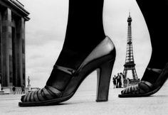 Shoes and Eiffel Tower, photo by Frank Horvat. 1974