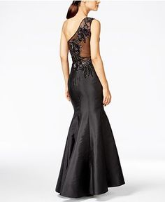 JS Collection One-Shoulder Embellished Mermaid Gown - Dresses - Women -  Macy s Party Gown ccd5a7ada2a2