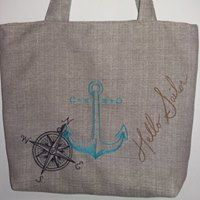 canvas bag, nautical