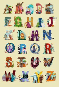 The Animals Alphabet Art Print