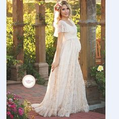2018 Women White Skirt Maternity Photography Props Lace Pregnancy Clothes Maternity Dresses For pregnant Photo Shoot Clothing #casual #DRESSES #maternity