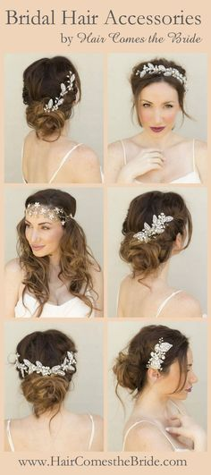 Reasonably priced designer quality bridal hair accessories by Hair Comes the Bride.