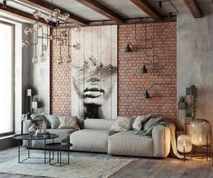 Everyone will love the modern style of the loft in the design of the living room, if you properly beat all its benefits. We have collected over 100 photos of the loft living room design to get your attention. Loft Interior Design, Industrial Interior Design, Loft Design, House Design, Industrial Living, Industrial Loft, Vintage Industrial, Design Design, Garden Design