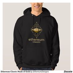 Ethereum Classic Made of Gold Hoodie designed by András Balogh