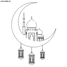 Free colouring activities drawing for kids Eid Crafts, Ramadan Crafts, Colouring Pages, Free Coloring, Decoraciones Ramadan, Islam For Kids, Ramadan For Kids, Color Activities, Free Printable Coloring Pages