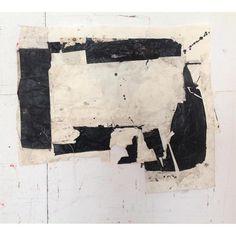Sati Zech Black no. 6, 2014, mixed media, paper, Howard Scott gallery, 63 x 85 cm (25 x 33.5 inches)