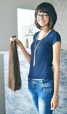 Long To Short Hair, Very Long Hair, Long Hair Cuts, Short Hair Styles, Long Hair Ponytail, Ponytail Hairstyles, Balding Long Hair, Donate Your Hair, Cut Her Hair