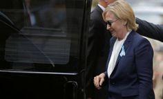 La candidata presidencial demócrata tuvo que abandonar el acto central en Nueva…