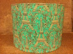 Lamp shade 30cm in Eiffel Tower and Flower pattern UK ceiling fitting £25.00