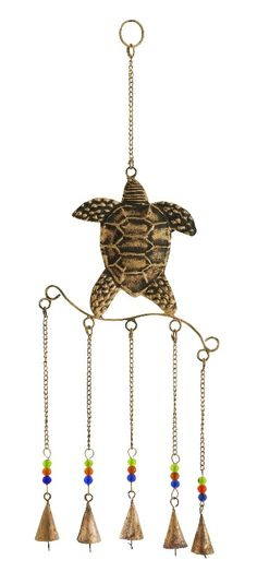 Bronze Turtle Design Wind Chimes with Metal Bells Patio Accent Home D | lamp | lighting, furniture | accents, home decor | accessories, wall decor, patio | garden, Rugs, seasonal decor,garden decor,patio decor