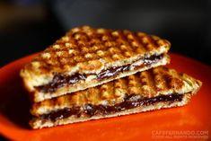 pb, banana + chocolate toast