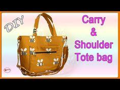 DIY CARRY & SHOULDER TOTE BAG | TOTE BAG TUTORIAL | DIY BAG SEWING | BAG MAKING | EASY TO SEW BAGS - YouTube