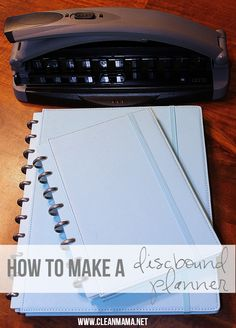 How to make a discbound planner via Clean Mama - plus a giveaway!