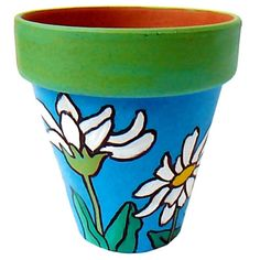 Terra+Cotta+Pot+Lighthouse | ... in the Summer Garden - Original Hand Painted Terra Cotta Flower Pot