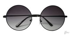 Óculos De Sol Redondo Grande Em Metal Estilo Janis Joplin || Ui! Gafas