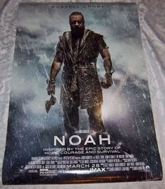 """NOAH Starring Russell Crowe Original Movie Theater Poster, 27"""" X 40"""" Size NICE!"""
