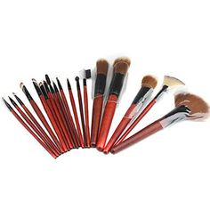 QINF Professional Makeup Brushes Set with Leather Case 18Piece Set ** Click makeup to review more details.