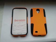 Plastik + Silikon Combination Case für Samsung Galaxy S4 / i9500 Orange