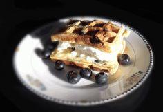 Lemon Ice Cream and Blueberry Waffle Sandwiches  http://www.cindysrecipesandwritings.com/lemon-ice-cream-and-blueberry-waffle-sandwich-dessertchallenge/