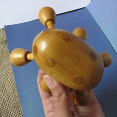 Vintage MASSAGER Wood Wooden Massaging Manual Tool Handheld Massager Insect #handmade