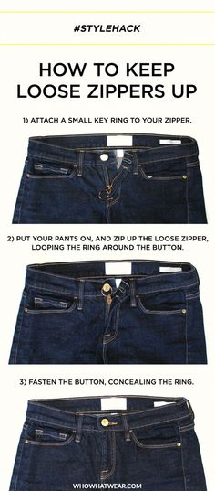have a lazy zipper on your favorite pants not to worry heres