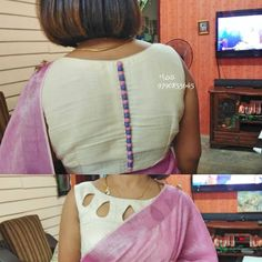 blouse designs latest Need Cash? Here Are Some Solutions for Those With Poor Credit These looking for a private mortgage f Back Design Of Blouse, Simple Blouse Designs, Stylish Blouse Design, Dress Neck Designs, Lengha Blouse Designs, Designer Blouse Patterns, Kurta Designs Women, Blouse Models, Boat Neck