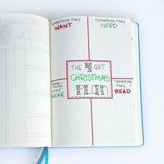 Ideas to plan for the holidays in your bullet journal.