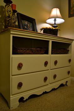 Restoring furniture really beings new life into worn down furniture. I'm proud of my first project. :)
