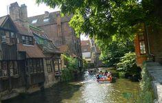 Bruges - Passeio de Barco || #belgica #bruges #europa #barco #passeio #rio #cidade #antiga #viagem #europe #boat
