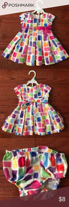 Super cute multi color dress Multicolored dress six months Bonnie Baby Dresses Formal