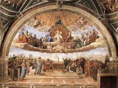 Raffaello Sanzio - Disputa del Santissimo Sacramento (Musei Vaticani, Roma)
