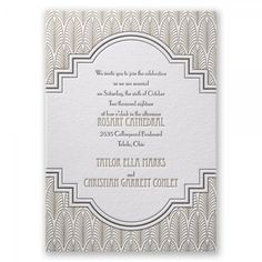 nice 11 art deco wedding invites