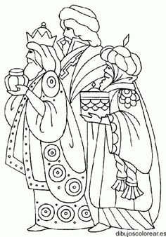 THREE WISE MEN coloring pages - 45 Xmas online coloring books and printables (page Christmas Nativity, Christmas Art, Christmas Projects, Christmas Ornaments, Felt Ornaments, Christmas Holidays, Christmas Decorations, Colouring Pages, Coloring Books