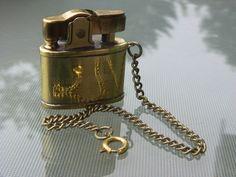 Vintage Lighter Cigarette Lighter Brass Lighter Miniature Lighter Penguin Japan #Penguin