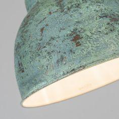 Lampa wisząca Vintage S antyczna zielona #stylskandynawski #nowoczesnelampy #lampyindustrialne