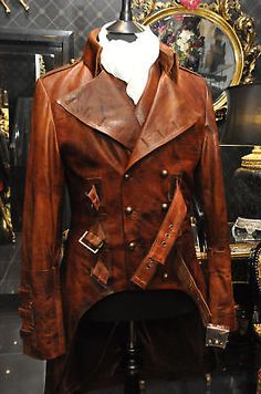 Steampunk Male | IMPERO LONDON MENS NEW LEATHER ANTIQUE MILITARY STEAMPUNK VICTORIAN ...