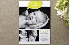 bright hello Birth Announcements by Moglea at minted.com