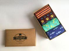 28% OFF - Father's day gift box | men socks | colourful socks | vintage socks | Gift for him | Birthday gift | Mens socks | Gift men de MoustardLondon en Etsy Colorful Socks, Gifts For Him, Birthday Gifts, Card Holder, Etsy, Vintage, Men, Hand Made Gifts, Gift Boxes