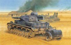 Panzer IV Ausf. E with fuel trailer