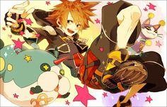 Pixiv Id 1766017, SQUARE ENIX, Disney, Kingdom Hearts 3D: Dream Drop Distance, Kingdom Hearts II, Kingdom Hearts
