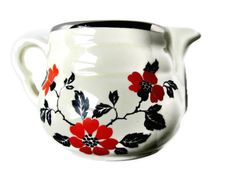 Hall+Red+Poppy+Creamer+Kitchenware+1940s+Vintage+by+