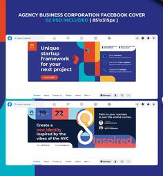 Agency Business Corporation Facebook Cover Template PSD Facebook Cover Template, Friend Photos, Fun Projects, Cool Designs, Messages, Templates, Photo And Video, Business, Life