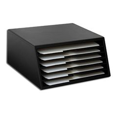 Found it at AllModern - 1000 Series Classic Leather Letter-Size Six-Tray File Sorter in Black