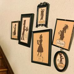 Alice in Wonderland Framed Character Silhouettes Wall Decorations - is it wrong that I just want these for every day?!